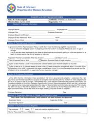 """Parental Leave Request Form"" - Delaware"