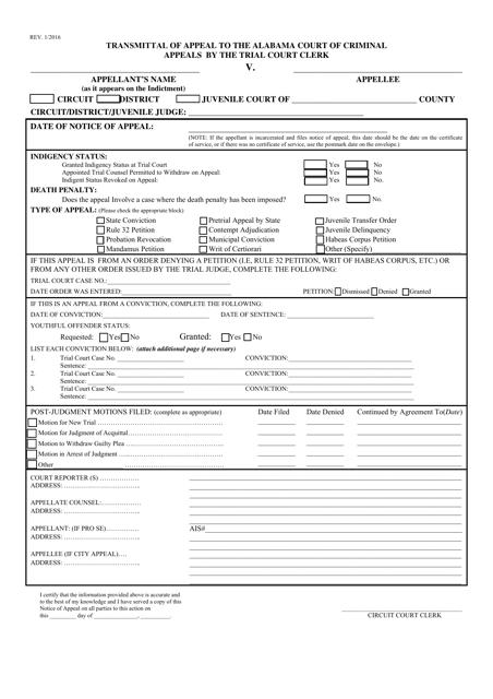 Form NOCA  Printable Pdf