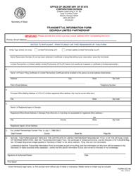 "Form CD246 ""Transmittal Information Form - Georgia Limited Partnership"" - Georgia (United States)"