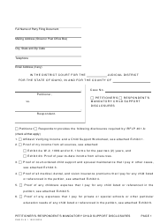 "Form CAO FL5-1 ""Petitioner's/Respondent's Mandatory Child Support Disclosures"" - Idaho"