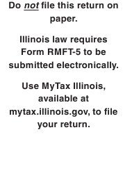 "Form RMFT-5 ""Motor Fuel Distributor/Supplier Tax Return"" - Illinois"