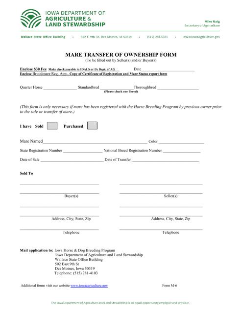 Form M-6  Printable Pdf