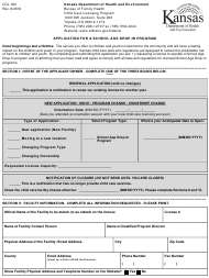 "Form CCL.801 ""Application for a School Age Drop-In Program"" - Kansas"