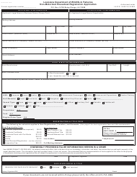 """Non-motorized Houseboat Registration Application"" - Louisiana"