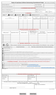 """State of Louisiana Uniform Sentencing Commitment Order"" - Louisiana"