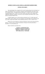 """District Court Ad Hoc Judicial Assignment Report Form"" - Louisiana"