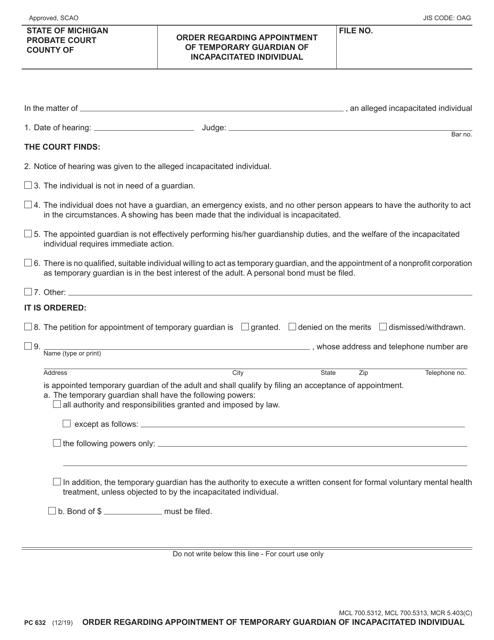 Form PC632 Printable Pdf