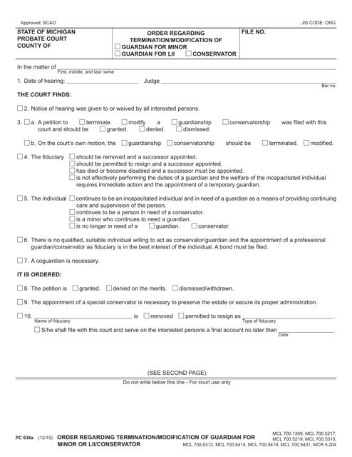 Form PC638A Printable Pdf