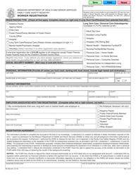"Form MO580-2421 ""Worker Registration"" - Missouri"