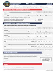 """Charitable Organization Annual Report Form"" - Missouri"