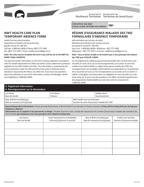 Form NWT8891 Printable Pdf