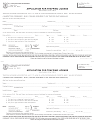 """""""Application for Trapping License"""" - New Hampshire"""