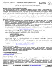 "Formulario ETA-9042A ""Solicitud De Asistencia De Ajuste Comercial (Taa)"" (Spanish)"