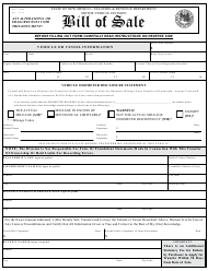 "Form MVD-10009 ""Bill of Sale"" - New Mexico"
