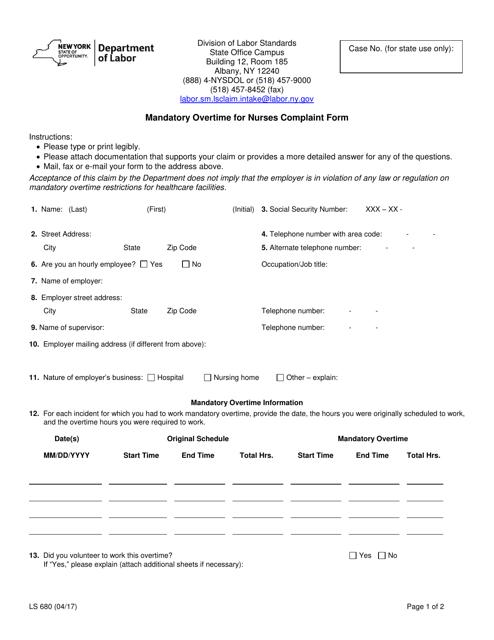 Form LS680  Printable Pdf