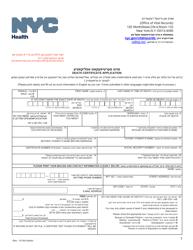 """Death Certificate Application"" - New York City (English/Yiddish)"