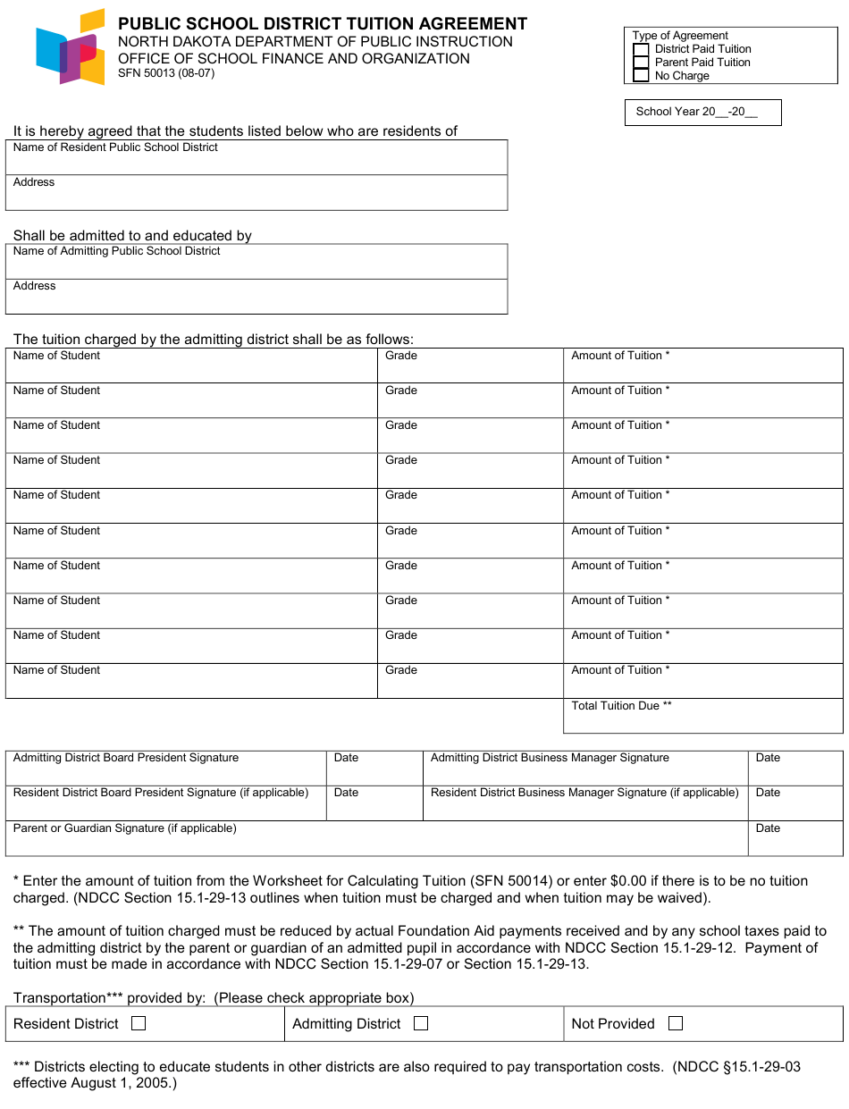 Form SFN50013 Download Fillable PDF or Fill Online Public ...