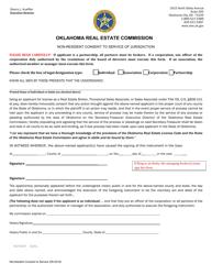 """Non-resident Consent to Service of Jurisdiction"" - Oklahoma"