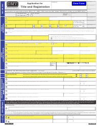 "Form 735-226 ""Application for Title and Registration"" - Oregon"