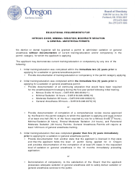"""Moderate Sedation Permit Application Form"" - Oregon"