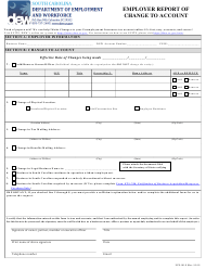 """Form UCE-101-S """"Employer Report of Change to Account"""" - South Carolina"""