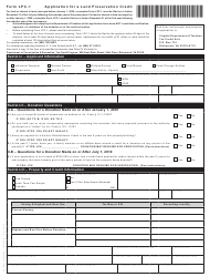 "Form LPC-1 ""Application for a Land Preservation Credit"" - Virginia"