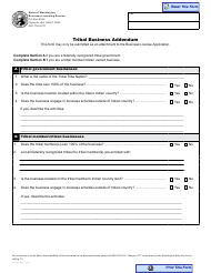 "Form BLS-700-402 ""Tribal Business Addendum"" - Washington"