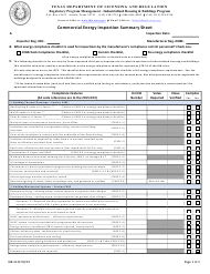 "Form IHB212C ""Commercial Energy Inspection Summary Sheet"" - Texas"