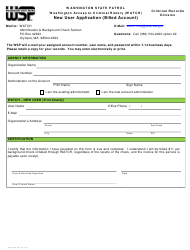 "Form 3000-240-063 ""New User Application (Billed Account)"" - Washington"