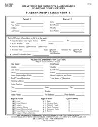 """""""Foster/Adoptive Parent Update"""" - Kentucky"""