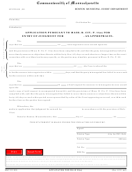 """Form BMC-CV-009 """"Application Under Rule 33(A) for Entry of Judgment"""" - Boston, Massachusetts"""