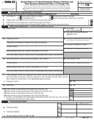 """IRS Form 5500-EZ """"Annual Return of a One-Participant (Owners/Partners and Their Spouses) Retirement Plan or a Foreign Plan"""""""
