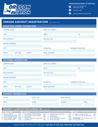 """""""Oregon Aircraft Registration"""" - Oregon"""
