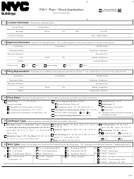 "Form PW1 ""Plan/Work Application"" - New York City"