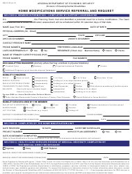 "Form DD-211 ""Home Modifications Service Referral and Request"" - Arizona"