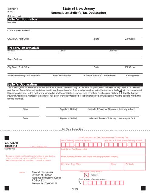 Form GIT-REP-1  Printable Pdf