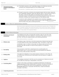 """Official Form 425A """"Plan of Reorganization for Small Business Under Chapter 11"""", Page 4"""