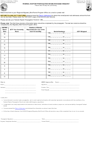 "FWS Form 3-2435 ""Federal Raptor Propagation Seamless Band Request"""