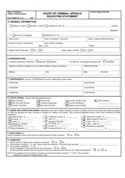 """Form ARAP-26 """"Court of Criminal Appeals Docketing Statement"""" - Alabama"""