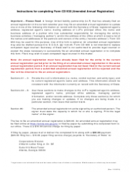 "Form CD930 ""Amended Annual Registration for Foreign Limited Liability Partnership"" - Georgia (United States)"