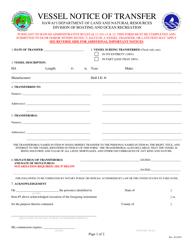 """Vessel Notice of Transfer"" - Hawaii"