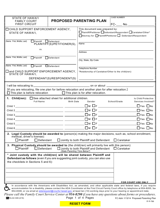 Form 1F-P-796 Download Fillable PDF Or Fill Online