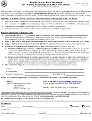 """Form ITD3143 """"Application for Even Exchange Cdl Military Knowledge and Skills Test Waiver"""" - Idaho"""