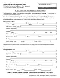 """General Civil Case Information Sheet"" - Idaho"