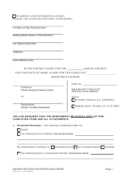 "Form CAO DV1-1 ""Sworn Petition for Protection Order"" - Idaho"