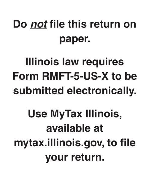 Form RMFT-5-US-X Printable Pdf