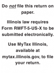 """Form RMFT-5-US-X """"Amended Return/Claim for Credit Underground Storage Tank Tax and Environmental Impact Fee"""" - Illinois"""