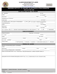 """Form IL452CM03P """"Employee Classification Act Complaint Form"""" - Illinois (Polish)"""