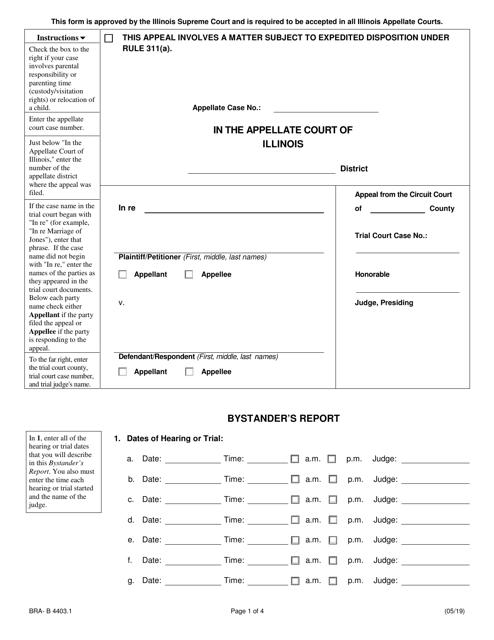 Form BRA-B4403.1  Printable Pdf