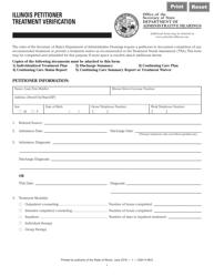"""Form DAH H68 """"Illinois Petitioner Treatment Verification"""" - Illinois"""